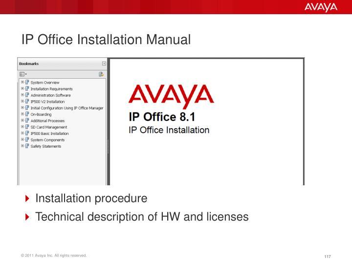 IP Office Installation Manual