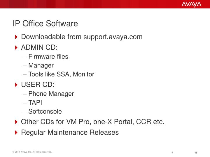 IP Office Software