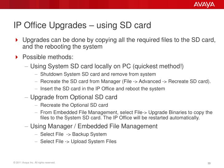 IP Office Upgrades –