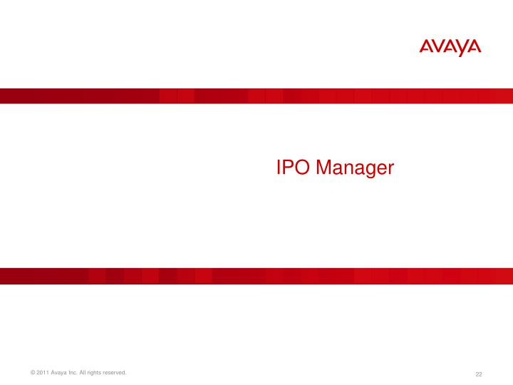 IPO Manager