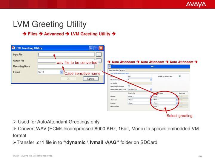 LVM Greeting Utility