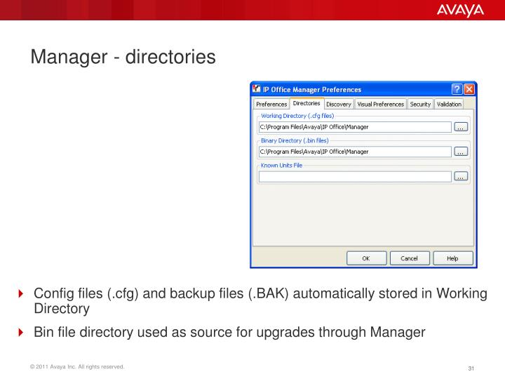 Manager - directories