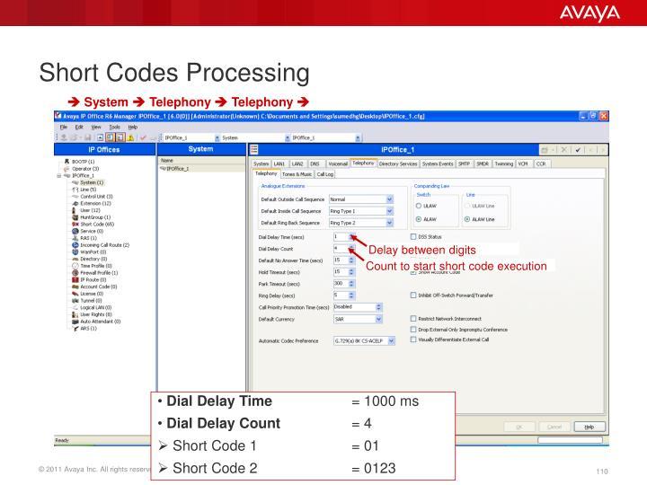 Short Codes Processing