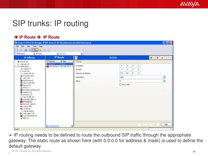 SIP trunks: IP routing