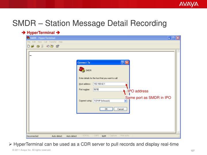 SMDR – Station Message Detail Recording