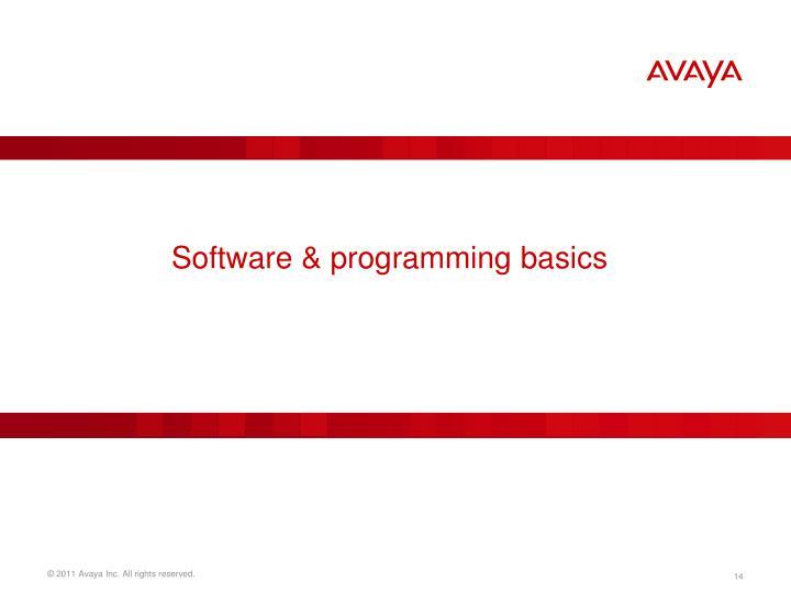 Software & programming basics