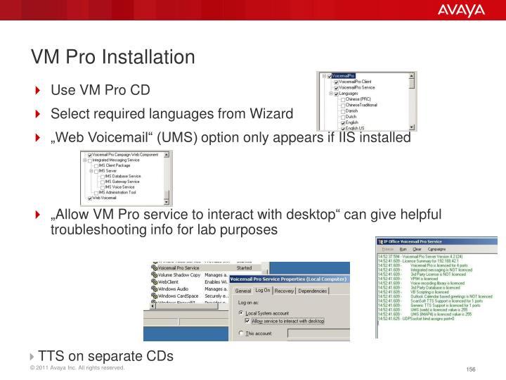 VM Pro Installation