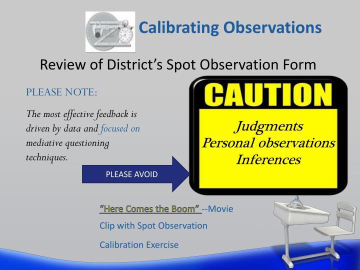 Calibrating Observations
