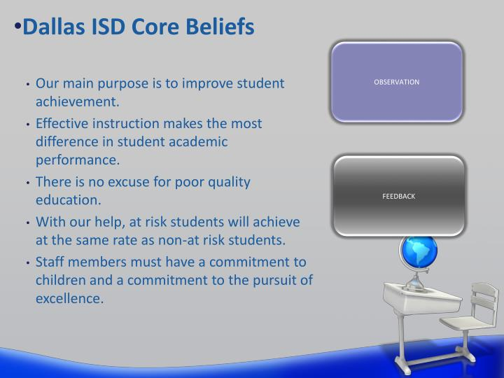 Dallas ISD Core Beliefs