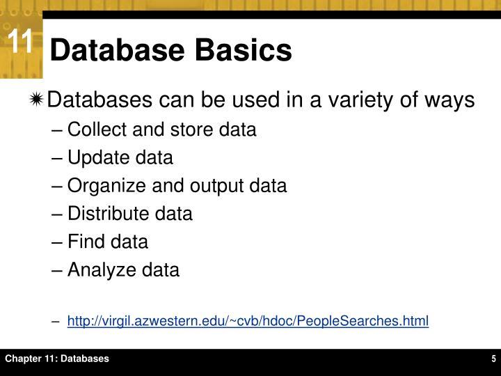Database Basics