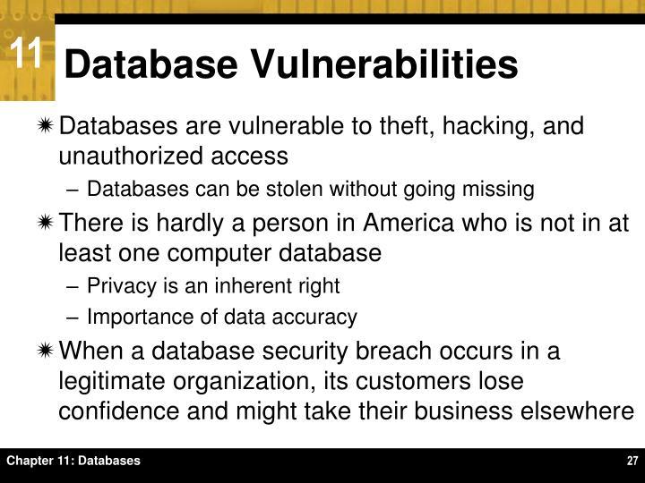 Database Vulnerabilities