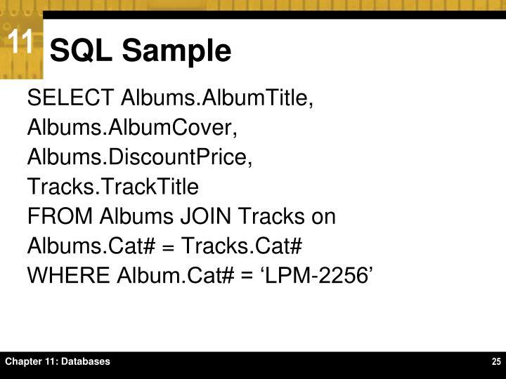 SQL Sample