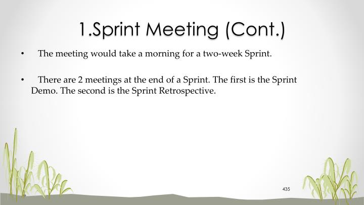 1.Sprint Meeting (Cont.)