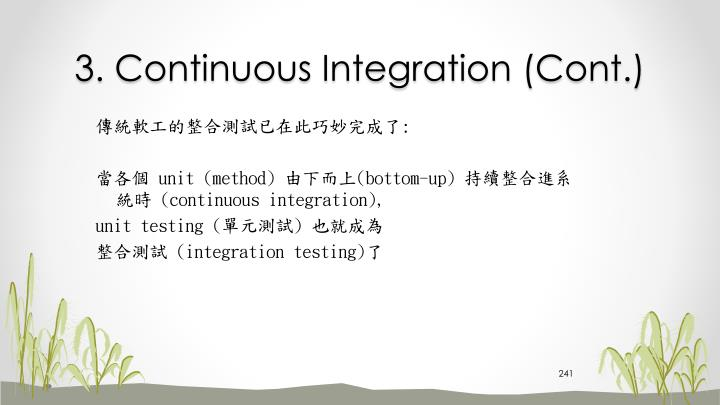 3. Continuous Integration (Cont.)