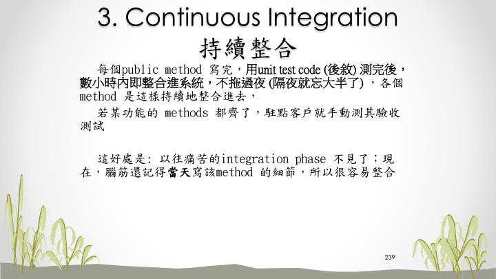 3. Continuous Integration