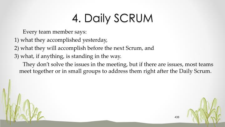 4. Daily SCRUM