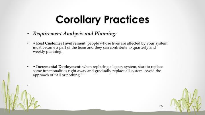 Corollary Practices