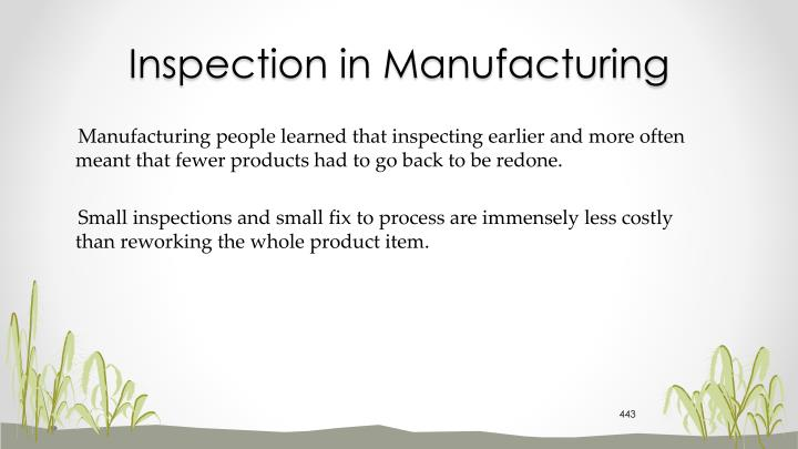 Inspection in Manufacturing