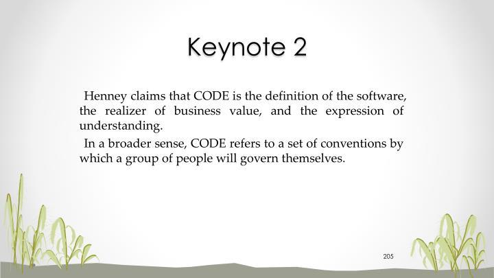 Keynote 2