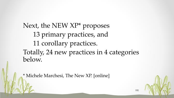 Next, the NEW XP* proposes