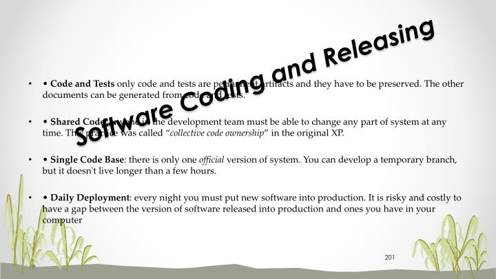 Software Coding and Releasing