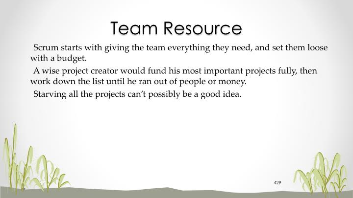 Team Resource