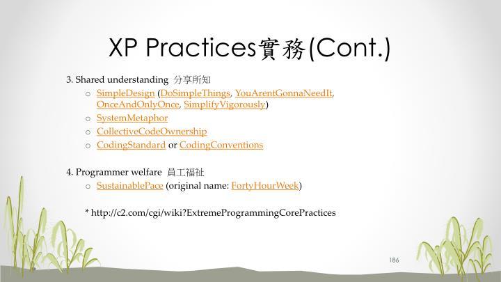 XP Practices