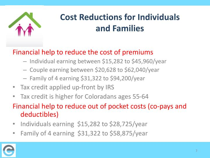 Cost Reductions for Individuals