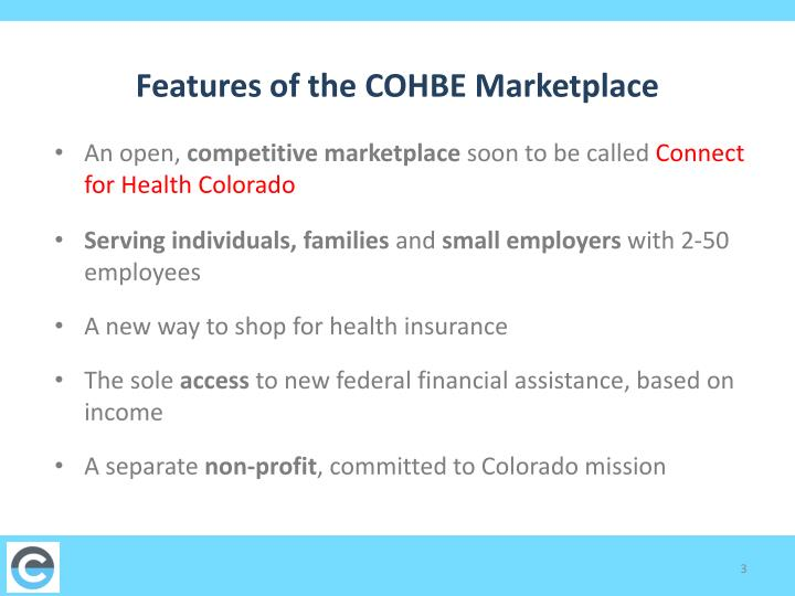Features of the cohbe marketplace