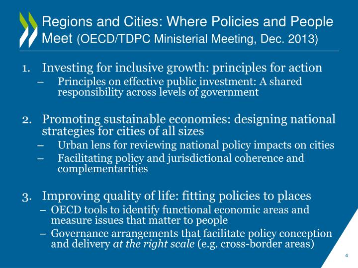 Regions and Cities: Where Policies and People