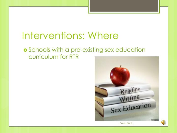 Interventions: Where