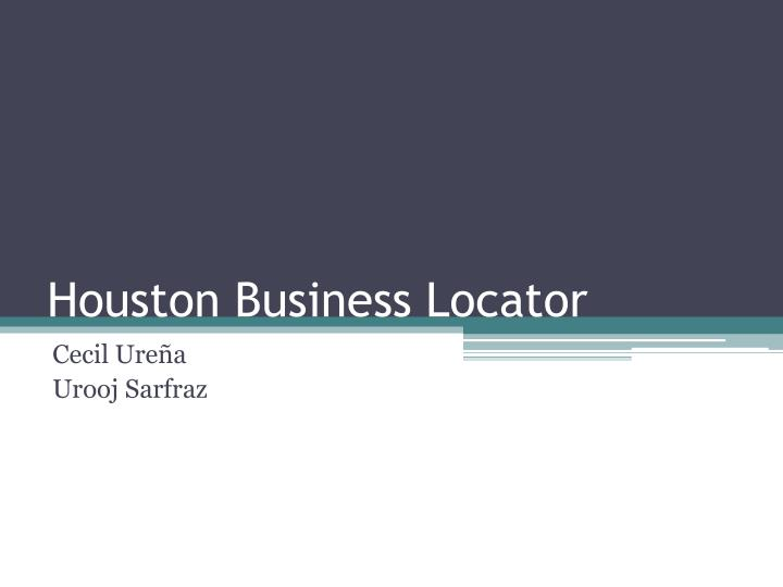 Houston business locator