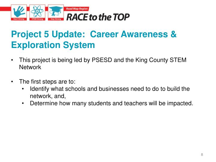 Project 5 Update:  Career Awareness & Exploration System