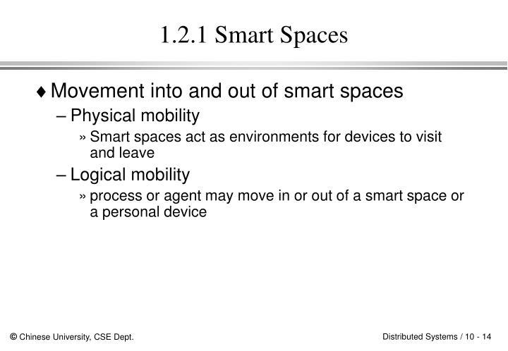 1.2.1 Smart Spaces