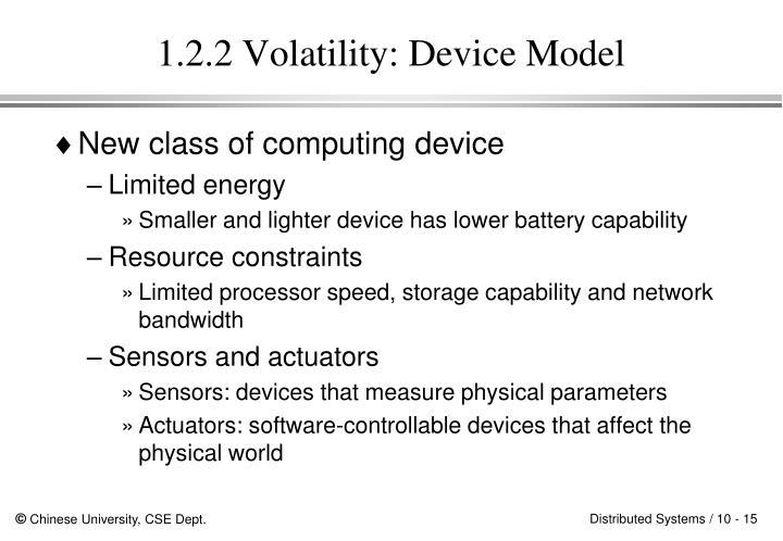 1.2.2 Volatility: Device Model