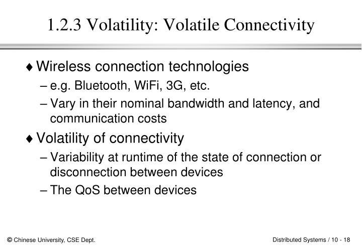 1.2.3 Volatility: Volatile Connectivity