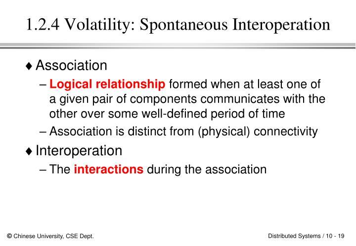 1.2.4 Volatility: Spontaneous Interoperation