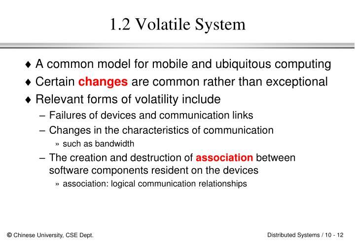 1.2 Volatile System
