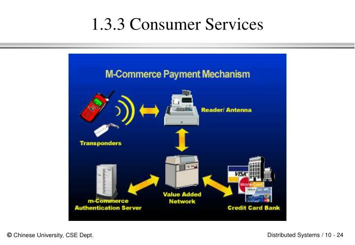 1.3.3 Consumer Services