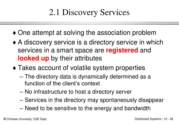 2.1 Discovery Services