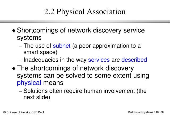 2.2 Physical Association