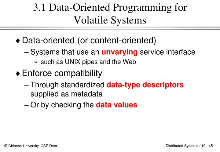 3.1 Data-Oriented Programming for