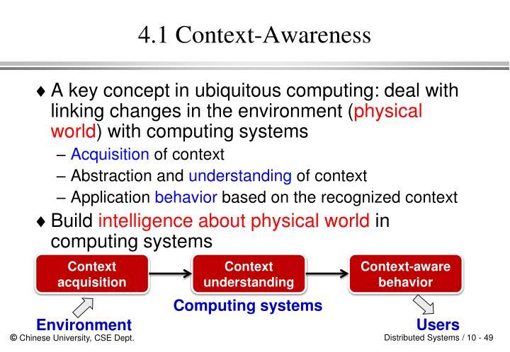 4.1 Context-Awareness