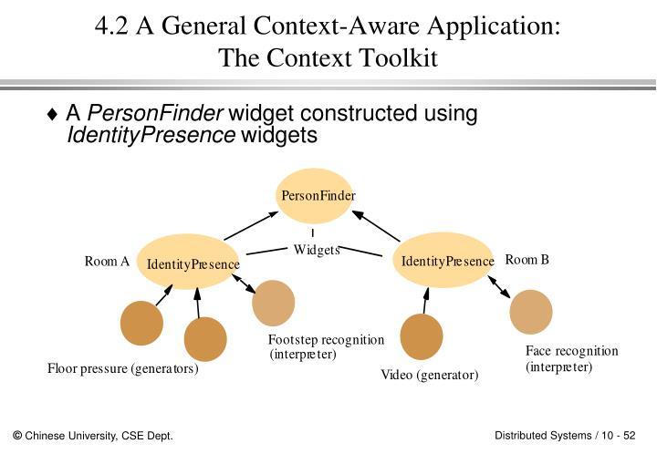 4.2 A General Context-Aware Application: