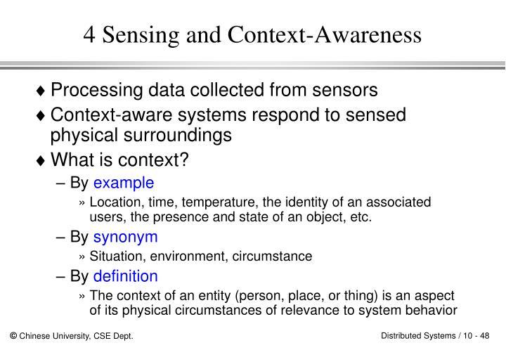 4 Sensing and Context-Awareness
