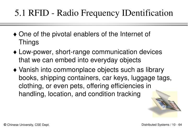 5.1 RFID - Radio Frequency IDentification