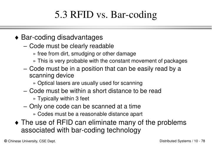 5.3 RFID vs. Bar-coding