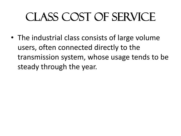 Class Cost of Service