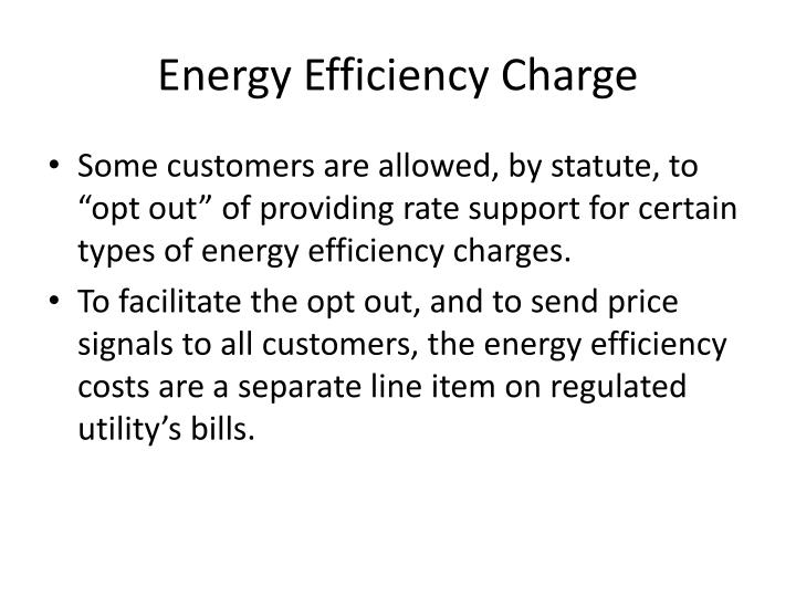 Energy Efficiency Charge