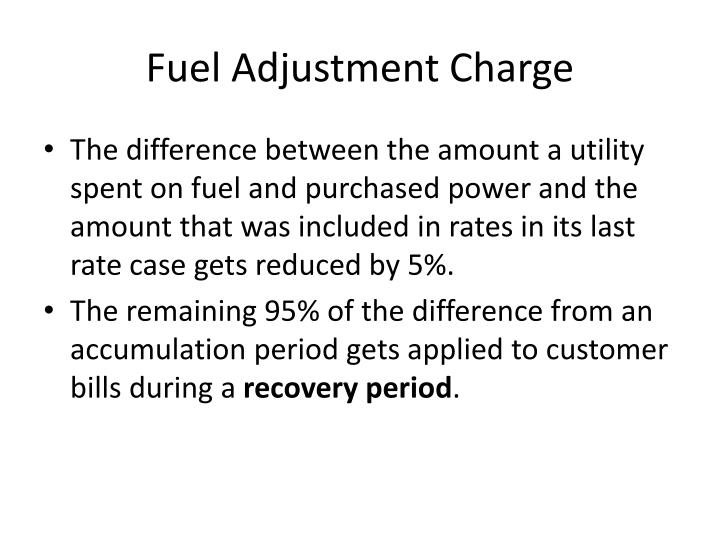 Fuel Adjustment Charge
